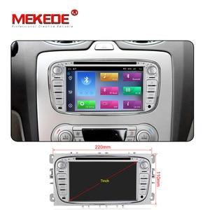 Image 5 - Автомобильный DVD плеер HD, Android 10,0, 2 + 32 ГБ, 2 Din, радио, GPS, Navi, для Ford Focus, Mondeo, Kuga, C MAX, Galaxy Audio, головное устройство