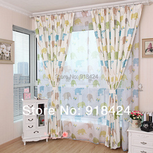 Size:1.5*2.7m Free Hook Custom Made Curtains,Boys and girls children bedroom cute cartoon curtains,Free Shipping.