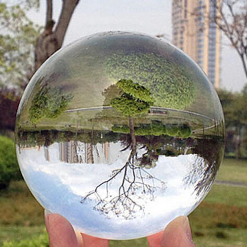 30-80mm Clear Glass Crystal Ball Healing Sphere Photography Props Photo Gifts Kids Baby Outdoor Fun Toy Balls 1PC