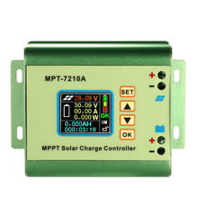 MPPT Solar Panel Battery Regulator Charge Controller with LCD Color Display 24/36/48/60/72V 10A with DC-DC Boost Charge Function(China)