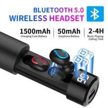 HBQ Q67 Bluetooth 5.0 Wireless Earphone TWS Sport Headphones Handsfree Earbuds Headset Earbud Earphones Case For Phone PK Q32