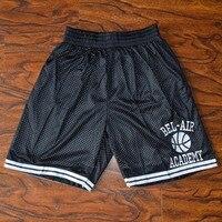MM MASMIG הנסיך המדליק בל אייר אקדמיה מכנסיים קצרים כדורסל תפור שחור Sml XL XXL