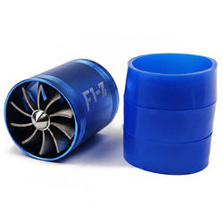 Car Modification Intake Turbine Gas Saver Supercharger Fit For Air Intake Hose Diameter 65-74mm