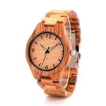 BOBO BIRD Marca Hombres Relojes de Lujo Casual Relojes reloj masculino Hombres Reloj de pulsera de Madera De Madera Regalos Top Artículos G24