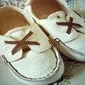 BBK 16 TTJ Детская Обувь Из Натуральной Кожи Мягкое дно Малыша обувь белый и Коричневый детские девушка обувь Ручной Работы Мини ребенок мальчик обувь дети
