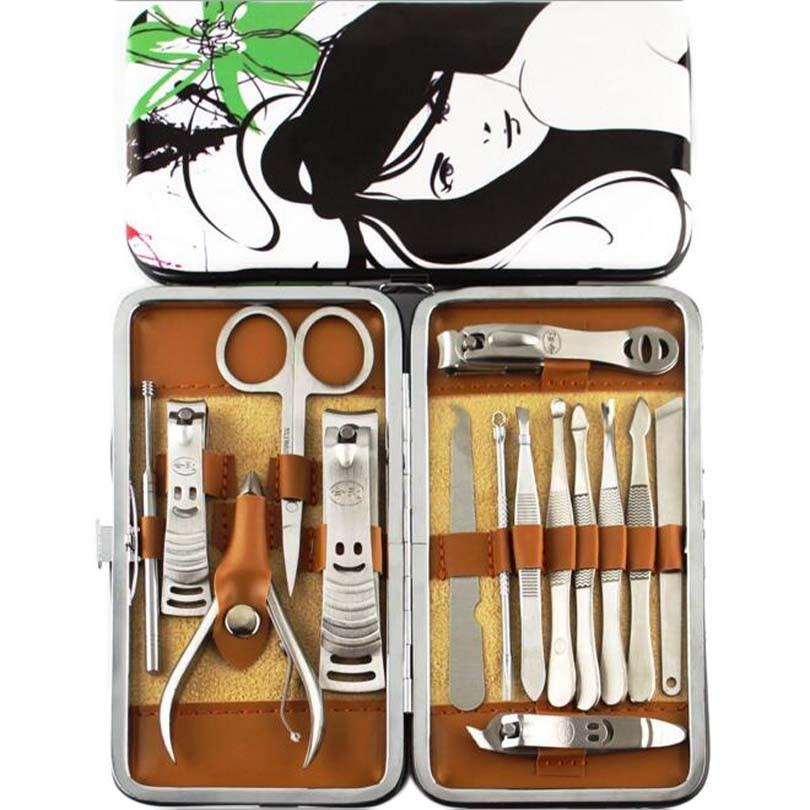 15PC kiváló minőségű körömreszelő manikűr szett orr haj - Köröm művészet