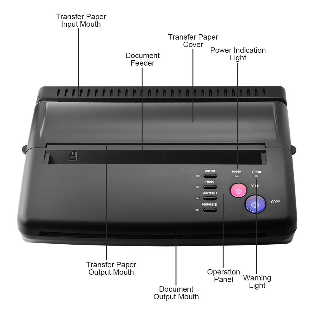 Nowy tatuaż maszyna do przenoszenia kopii wzornik maszyna ekspres wzornik kopiarki drukarki rysunek cieplną dla tatuażu tatuaż transferu papieru dostaw