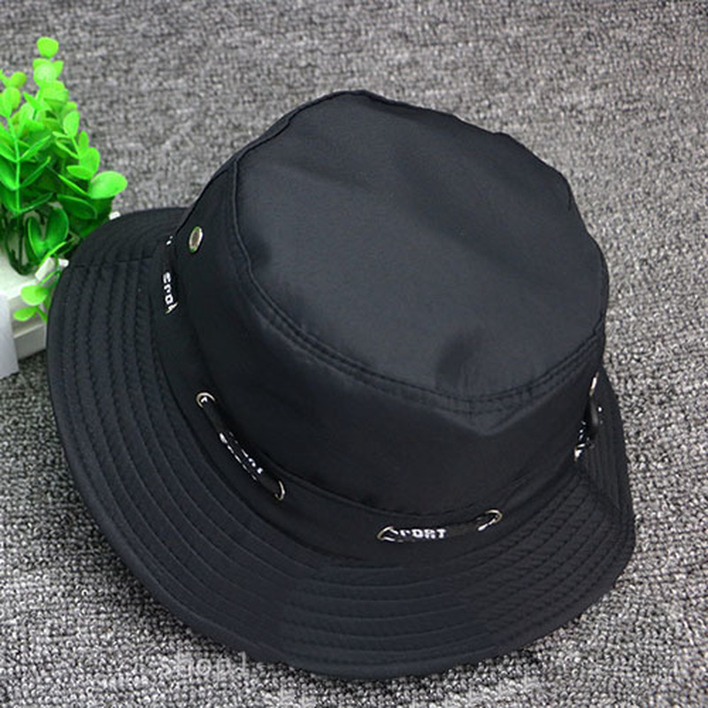 0063e94f8ad 5 Colors Fish man Hats Jungle Camo Fisher Hat with Wide Brim Sun Fishing  Bucket Hat Camping Fishing Hunting Cap Outdoor Hat-in Fishing Caps from  Sports ...