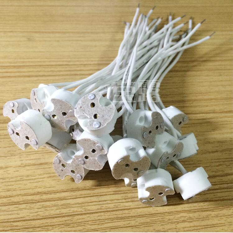 LED Lamp Socket holder Base Halogen with Wire Miniature Bi pin Base ...