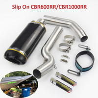 CBR1000RR CBR600RR Motorcycle Exhaust Pipe Front Mid Link Pipe Slip On Pipe For Honda CBR1000RR 2004 2007 CBR600RR 2003 2015