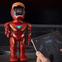 Фильм танец Железный человек MARK50 фигурка игрушка светодиодный фонарик со звуком Мстители герой Железный человек AR аналоговый контроль эле