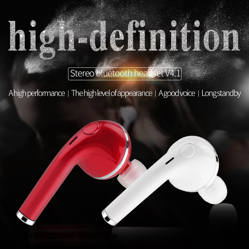 V4.1 Bluetooth Earphone headphones Wireless headset with Mic for Iphone Xiaomi mi huawei meizu sony Samsung xiami nubia earbuds