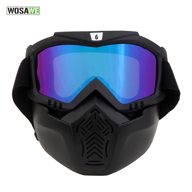WOSAWE motorcycle goggles mask removable off-road dust mask riding glasses BYJ-020-C