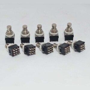 Image 4 - 10 x 3PDT 9PIN przełącznik nożny do efekt do gitary skrzynka przełączników nożnych Stomp, True Bypass akcesoria gitarowe
