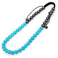 Single Color Shamballa Necklace Micro Pave CZ Disco Ball Braided Shamballa Necklace Beaded Shamballa Necklaces