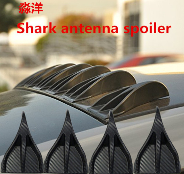 US $16 37 34% OFF| Free shipping new design Air Vortex Generator Diffuser  Roof Shark Fins Spoiler Wing 8pcs Set Kit fit for Cruze Eco-in Spoilers &