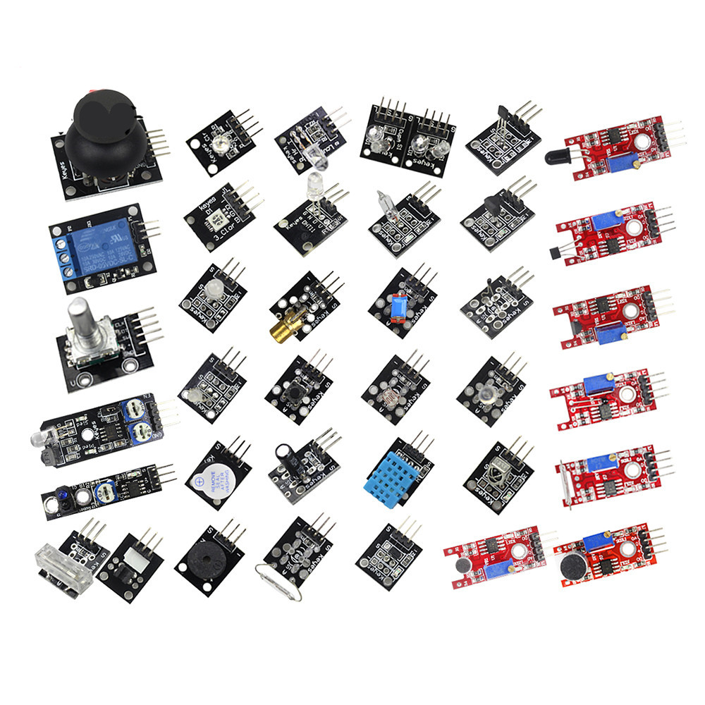 Free shipping 37 in 1 Box Sensor Kit Basic Module Suite for Arduino u2 complete edition 1976 2012 box 17cdbrand box free shipping