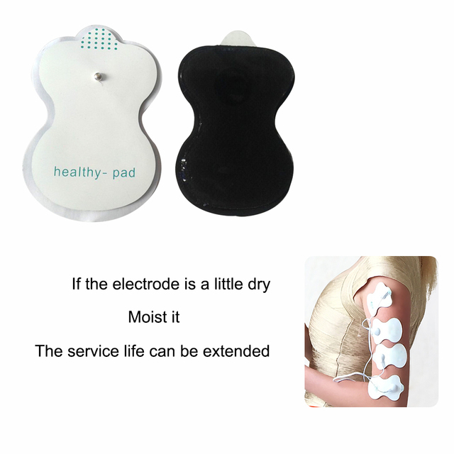 10Pcs Tens Electrodes for Myostimulator Physiotherapy Therapy Machine Pads Slimming Massager Adhensive Gel Health Pad for Tens 1