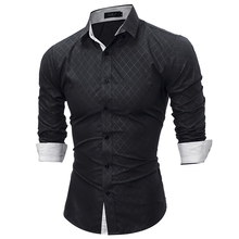 2018 Fashion Brand shirt Summer Plaid Men Slim Fit Shirt Long Sleeve Casual Social Male Shirt high quality camisa masculina YJ