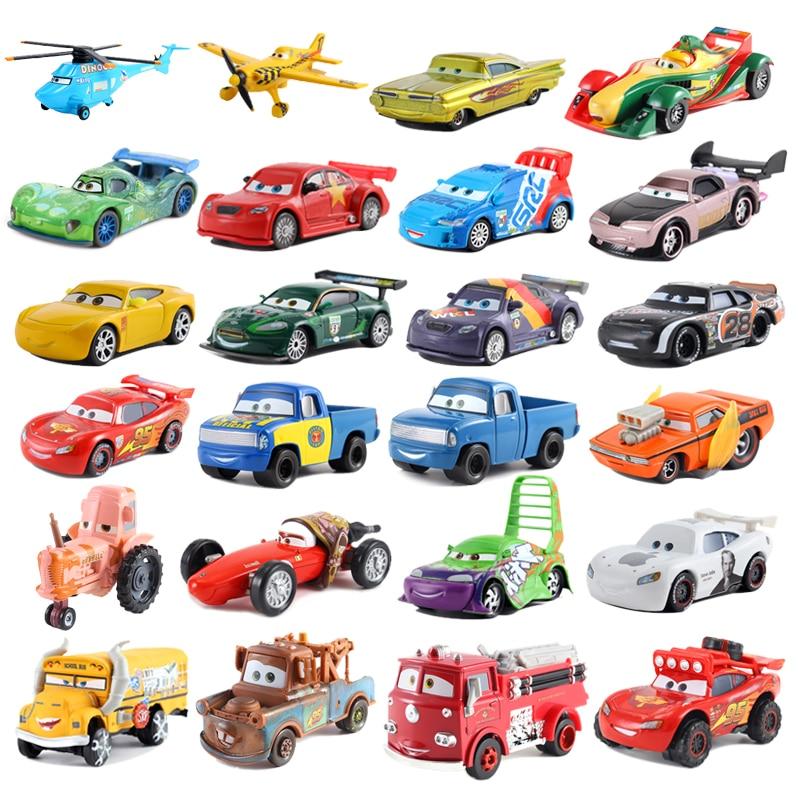 Disney Pixar Car Series 2 * 3 Lightning McQueen 1:55 Die Cast Metal Alloy Model Car Toy Car Child Birthday / Christmas Gift