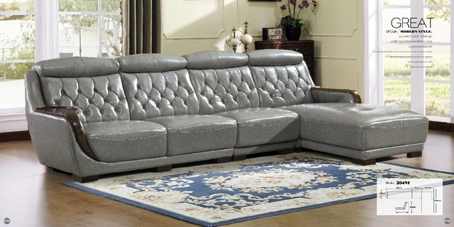 Living Room Furniture Modern U Shaped Leather Fabric Corner Sectional Sofa Set Design Couches For