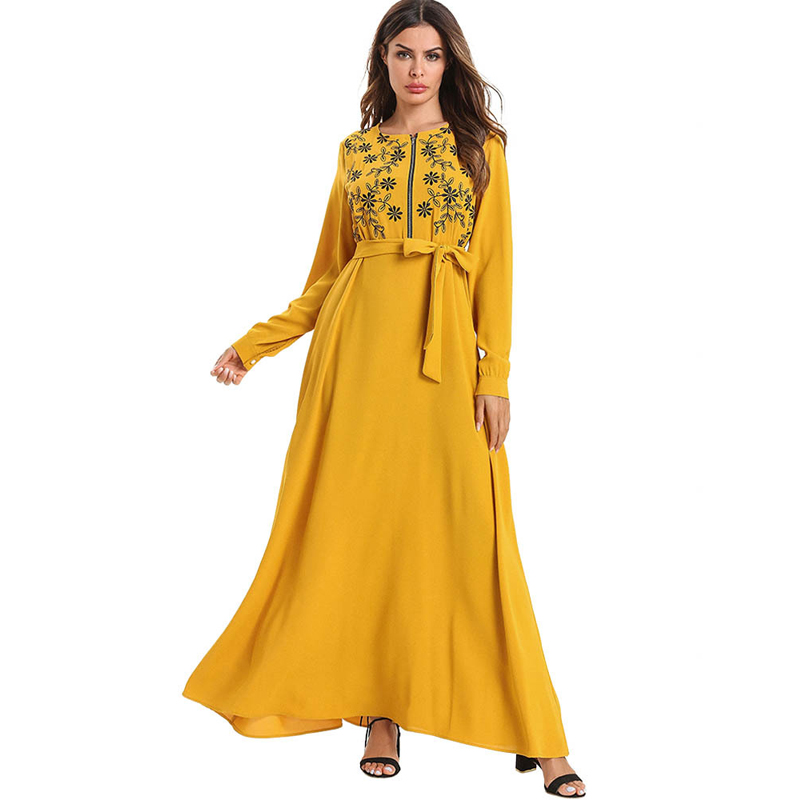 Kaftan Muslim Abaya Dubai Dress Turkey Caftan Marocain Robe Musulmane Vestidos Hijab Dresses Ramadan Elbise Islamic Sukienki