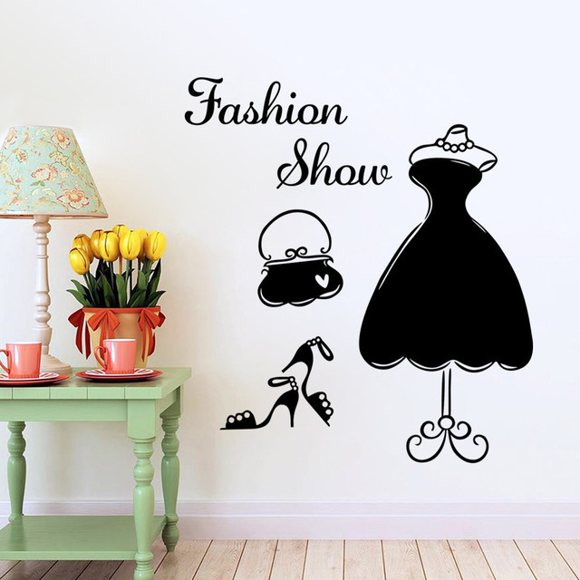 fashion show show body stickers decoration art dressing room closet