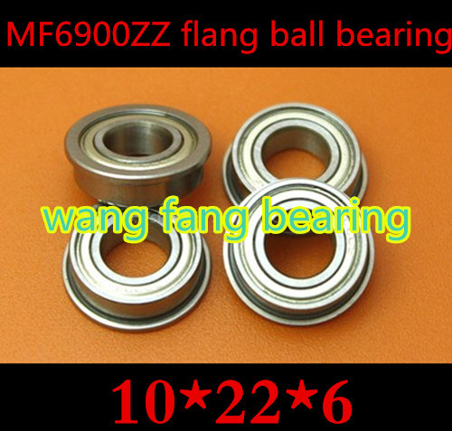 10pcs/lot High Quality F6900ZZ Miniature Flanged Flange ball bearing ABEC-5  10*22*6  10mm  Flange ball bearing mf126zz flange bearing 6x12x4 mm abec 1 10 pcs miniature flanged mf126 z zz ball bearings