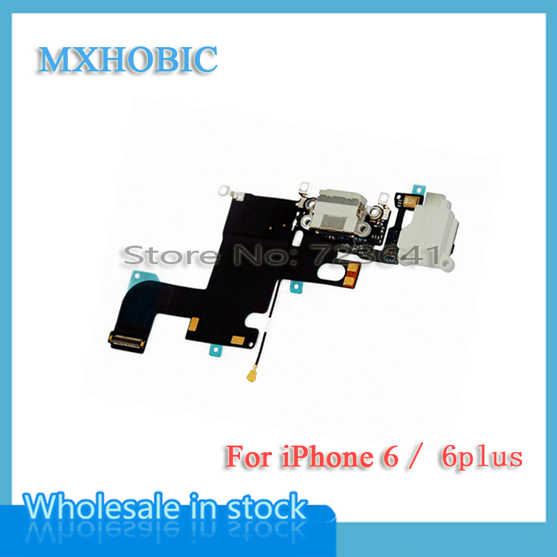 MXHOBIC 50pcs lot USB Charger Dock Charging port Connector Flex Cable for iPhone 6 6G Plus