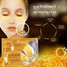 New 10Pcs/Lot Gold Crystal Collagen Eye Mask Eye Patches For