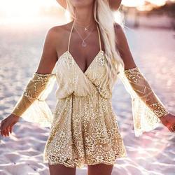 2017 new girls sweet gold tulle backless v neck jumpsuit women off shoulder elegant playsuit new.jpg 250x250