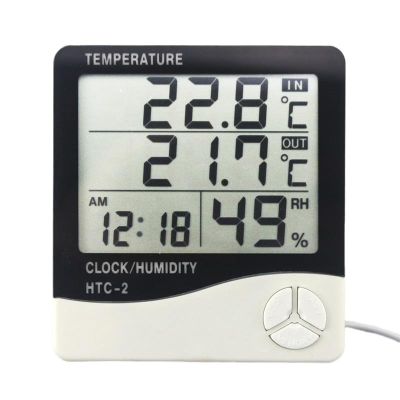 2 in 1 TERMOMETRO digitale Monitor temperatura Meter INDOOR OUTDOOR