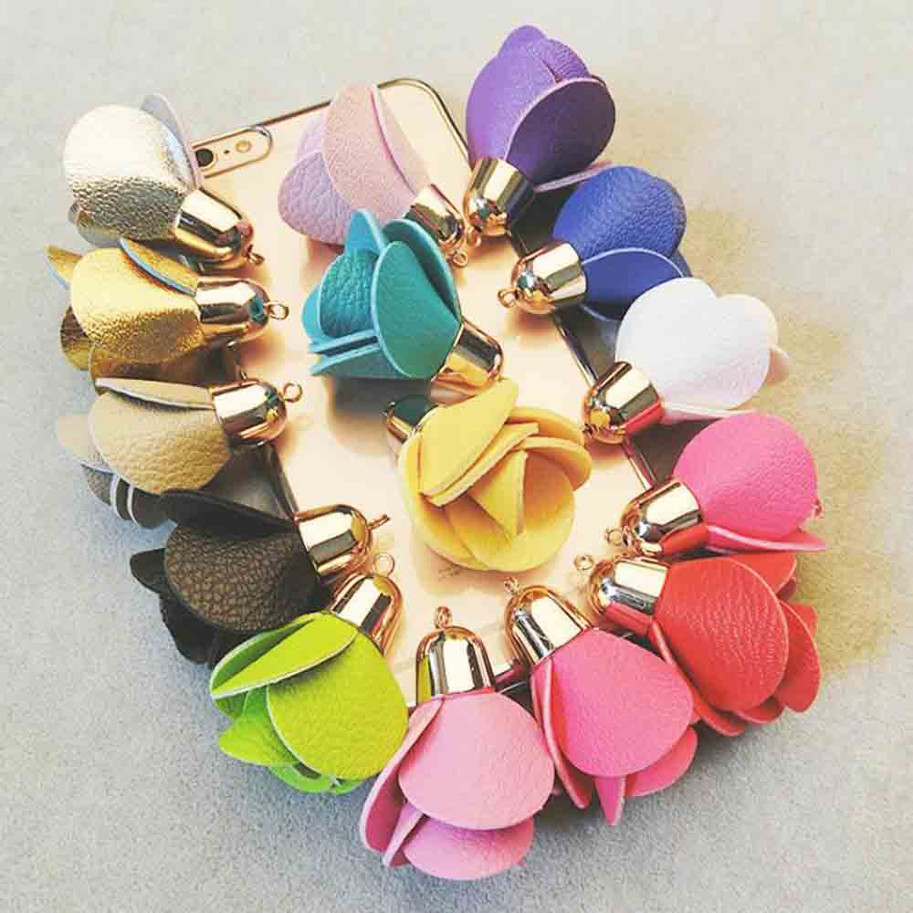 Fashion High-grade PU Leather Rose Keychain Beautiful Purse Charms Trendy Accessory Excellent Gift For Girlfriend Lover