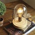 Современный декор  светодиодная настольная лампа для гостиной  спальни  учебы  прикроватная лампа  дерево  стекло  покрытие  кафе  Настольны...