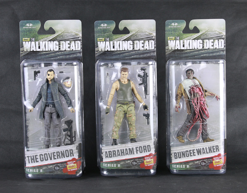 3pcs <font><b>The</b></font> Governor Abraham Ford Bungee Guts Walker AMC <font><b>TV</b></font> Series <font><b>The</b></font> <font><b>Walking</b></font> <font><b>Dead</b></font> Series 6 <font><b>Mcfarlane</b></font> <font><b>Toys</b></font> <font><b>Action</b></font> Figure