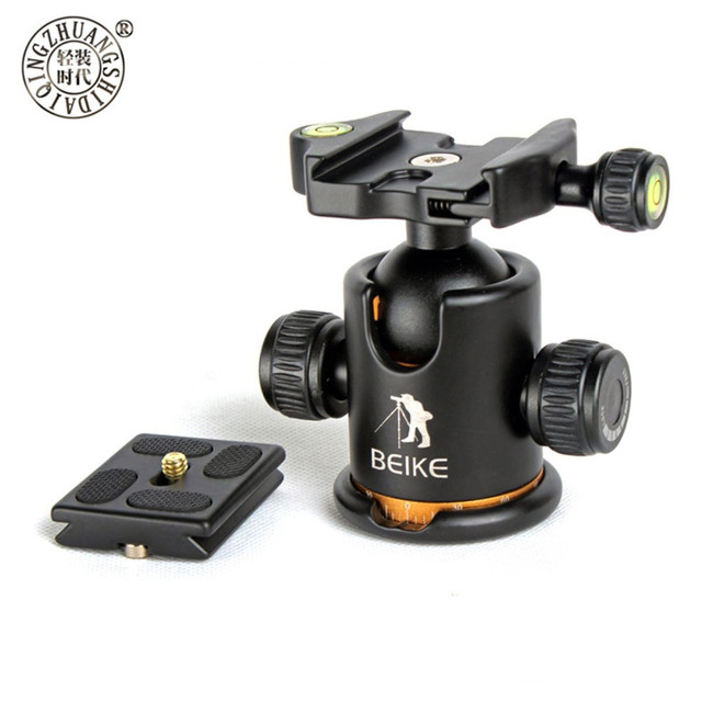 BEIKE Aluminum BK 03 Camera Tripod Ball Head with Quick Release Plate Pro Camera Tripod Max load to 8kg