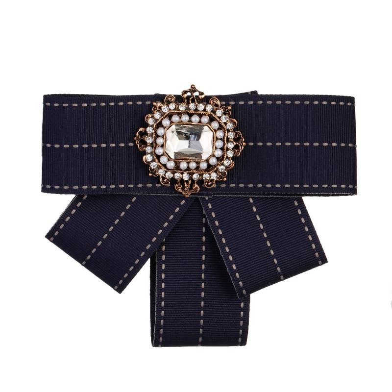 Damen-accessoires Beliebte Marke Madam Fliege Dame Übertrieben Retro Schwarz Diamant Brosche SorgfäLtige FäRbeprozesse