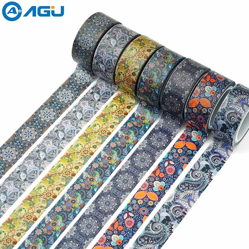 aagu-1-pc-15-mm-5-m-novos-desenhos-de-flores-adesivo-diy-masking-tape-washi-tape-fita-adesiva-para-pintura-unico-lado-fita-de-papel-decorativo