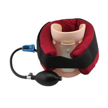 21x16cm Red inflatable cervical traction supports device neck vertebrae fixed belt Multi layer air chamber for daily health care