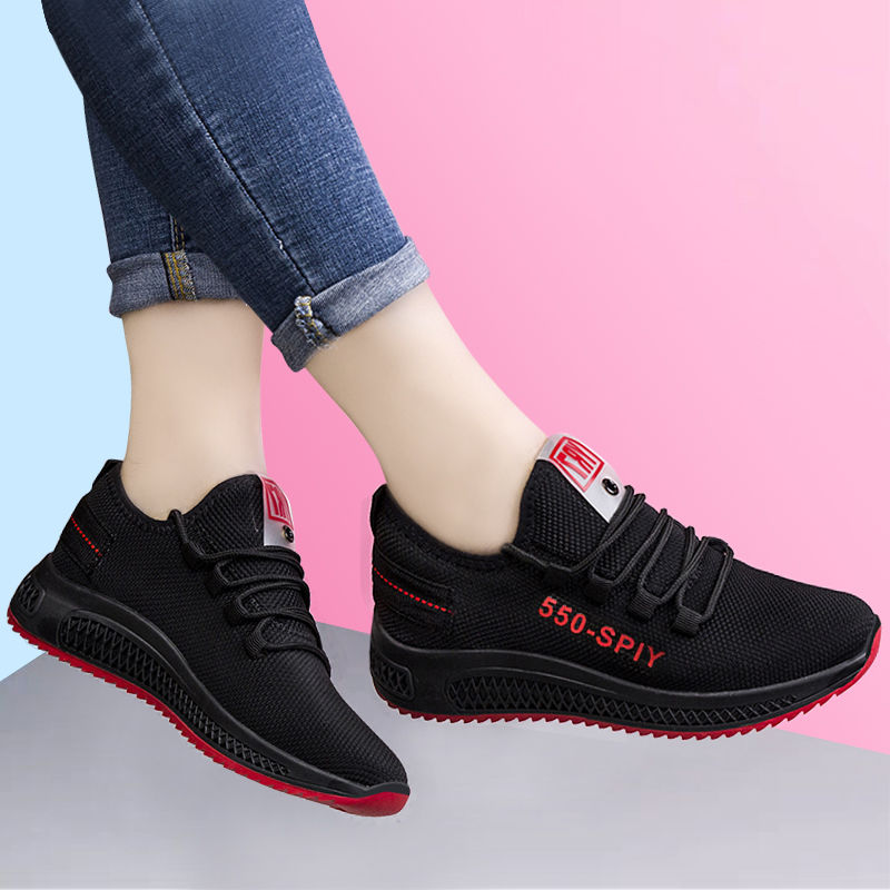 HEFLASHOR women sport shoes Casual Anti-Slip Sport Walking Sneakers Running Soft Shoes women platform sneakers Drop Shipping(China)