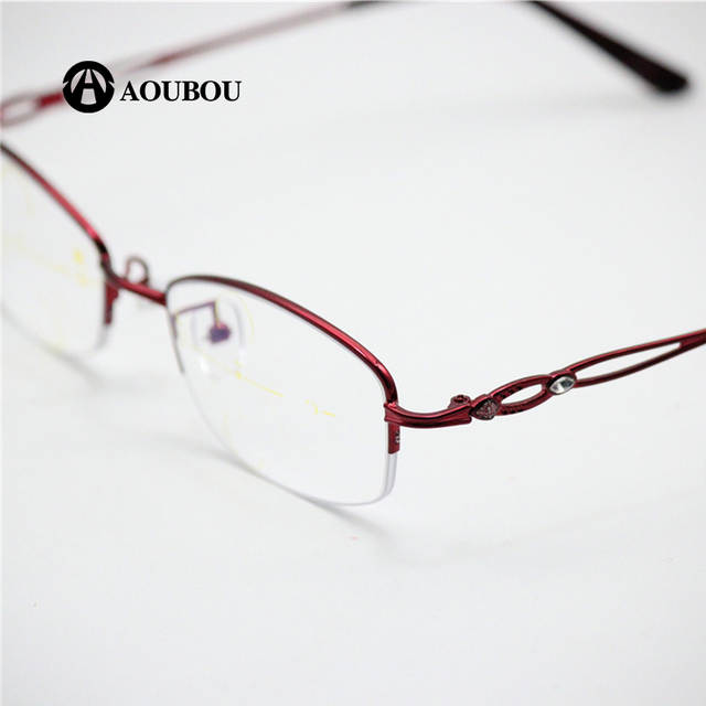 4893961f9c6 Progressive multi-focal point zooming look nearly double-use color light  reading women s glasses