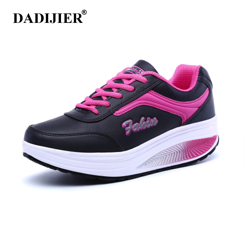 2017 Women's Casual Shoes Height Increasing Platform Shoes Fashion Shoes for Women Swing Wedges Shoes Breathable trainners ST44 minika women casual canvas shoes air cushion soles slip on swing fitness shoes platform wedges walking height increasing shoes
