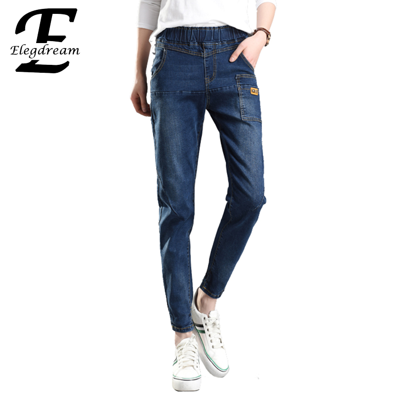 Elegdream Clothing Plus Size Women Jeans S 5XL 8 Sizes 2017 Spring New Ladies Denim Pant Girl Casual Capris Trousers Blue XXXXXL lole капри lsw1349 lively capris xl blue corn