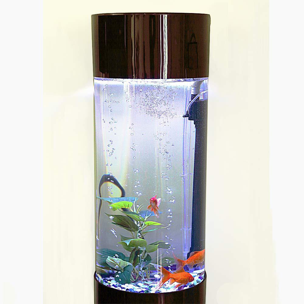 Fish tank acrylic - Yafeng Cylindrical Acrylic Aquarium Sets Of Cylinder Ecological Aquarium Fish Tank Led Stands 60cm Round Package Logistics On Aliexpress Com Alibaba Group