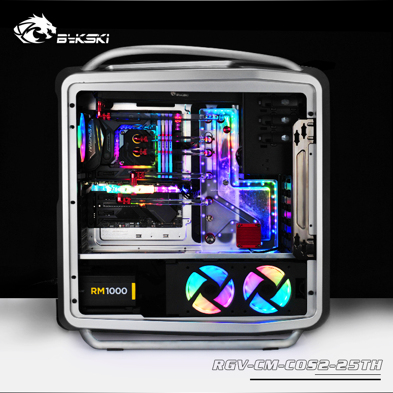 Qualified Bykski Acrylic Tank Use For Coolermaster Cosmos Ii Computer Case Combo Ddc Pump Cool Water Channel Solution High Standard In Quality And Hygiene 3pin 5v D-rgb