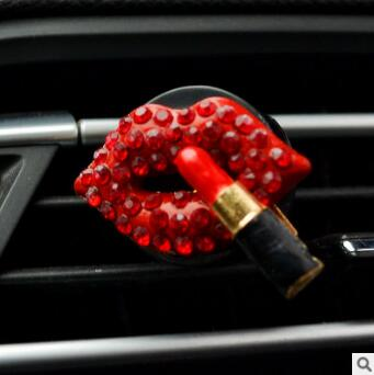 Red Lips/Loving Heart/Lipstick Aromatherapy Clip Auto Air Vent Freshener Car Accessories Car Air Freshener Fragrance HA149