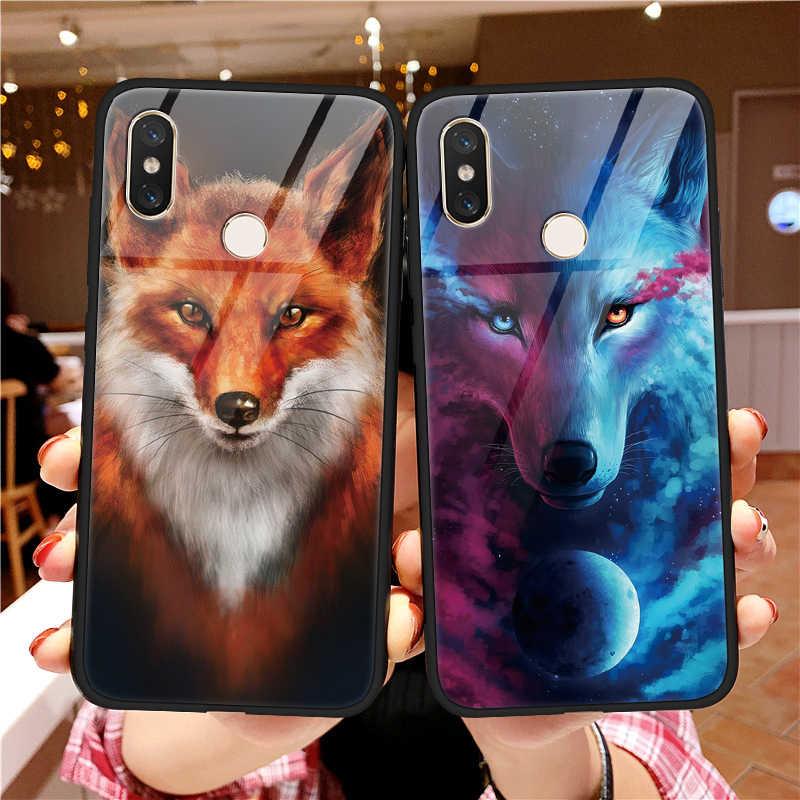 Чехол из закаленного стекла TPU Wolf Fox для Xiaomi mi Red mi A2 S2 Y2 Note 5 Plus 6 Pro 5S 6X8 SE Explorer Lite mi x 2 2 S Max 3 S2 чехол