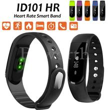 10ชิ้นสมาร์ทวงID101บลูทูธสร้อยข้อมือHeart Rate MonitorกีฬานาฬิกาติดตามการออกกำลังกายสำหรับiOS 7 VS S Martband ID107 Miวง2