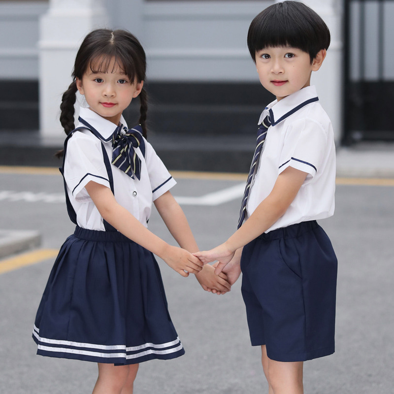 Kids Sailor Outfit Suit Set <font><b>Sexy</b></font> Japanese Sailor School Uniform Costume Boys <font><b>Girls</b></font> Clothes Size 13 12 11 <font><b>10</b></font> 9 8 7 6 5 4 <font><b>Years</b></font> image
