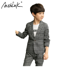 цены на ActhInK New Arrival 2Pcs Boys Blazer Suit Boys Grey Formal Suit Teen Boys Ceremony Costume Boys Spring Blazer Clothing Set  в интернет-магазинах